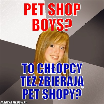 Pet shop boys? – pet shop boys? to chłopcy też zbierają pet shopy?