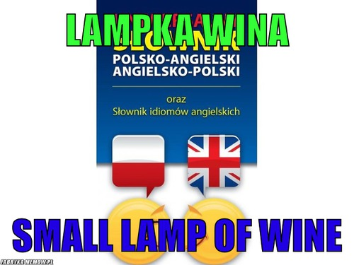 Lampka wina – lampka wina small lamp of wine