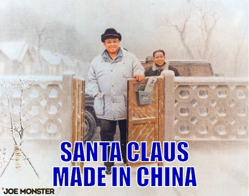 –  santa claus made in china
